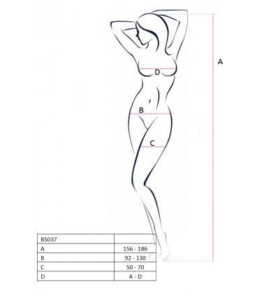 Passion - Bodystocking BS037, Black