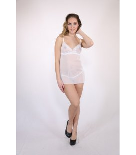 Baci - Mesh and Lace Chemise & G-string