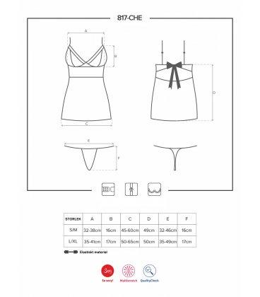 Obsessive - 817 chemise & thong, Black